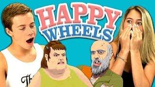 Repeat youtube video TEENS REACT TO HAPPY WHEELS