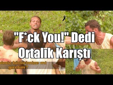"""Mustafa Kemal Küfür Ediyor - """"F*ck you"""" - Ortalık Karışıyor! Survivor 2018 Hilmicem - Mustafa"""
