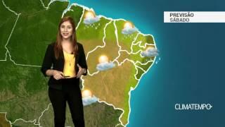 Previsão Nordeste - Pode chover forte no litoral