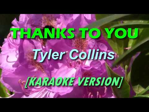 Thanks To You - Tyler Collins [KARAOKE]