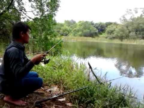 mancing liar di danau PIK jakarta