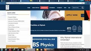 Riphah International University Islamabad Dpt