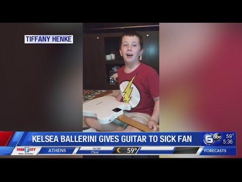Austin James - Kelsea Ballerini gives a guitar to a blind child battling cancer.