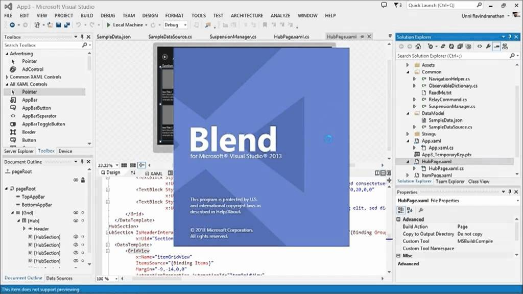 Designing Your XAML UI with Blend, 02, XAML Development in Visual