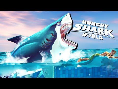 Bull Shark ATTACKS EVERYTHING! - Hungry Shark World Gameplay