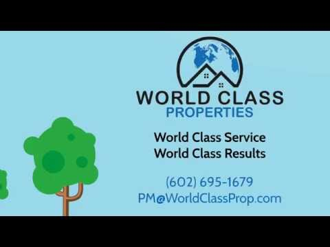 Why Work With World Class for Phoenix Metro Area Property Management