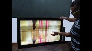 TV Samsung: Imagem com  efeito cachoeira como consertar!