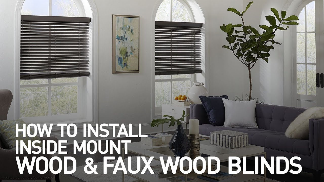 How To Install Inside Mount Wood And Faux Wood Blinds Youtube