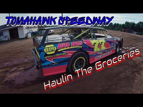 Street Stock feature at Tomahawk Speedway Driver: Ethan (Wreck-It Ralph) Hommerding. - dirt track racing video image