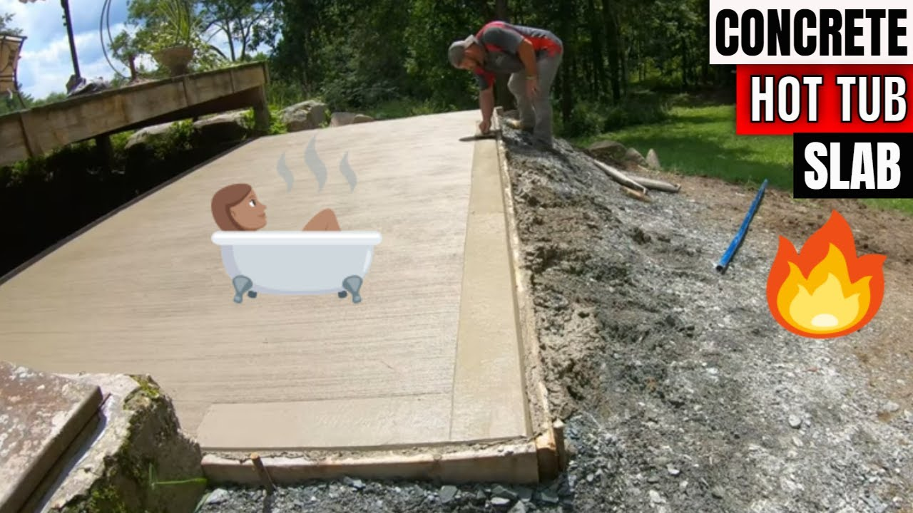 Building Concrete Hot Tub Pad