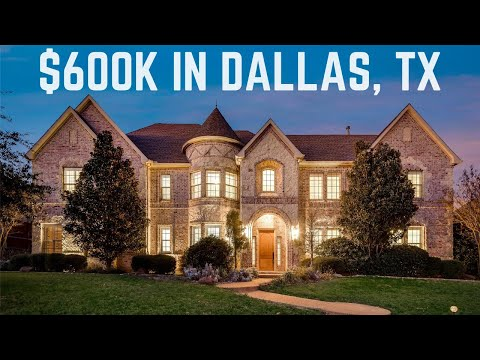 What Does a $600K House Look Like in Dallas, TX?   Gated Luxury Home   Dallas Homes for Sale