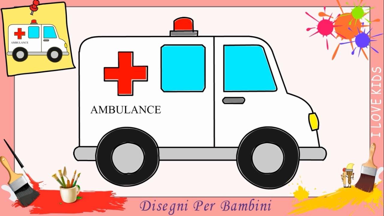 Disegni di ambulanza come disegnare un ambulanza facile for Disegni di squali per bambini
