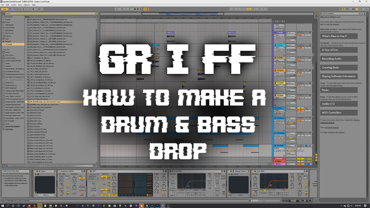 how to make drum and bass in ableton live