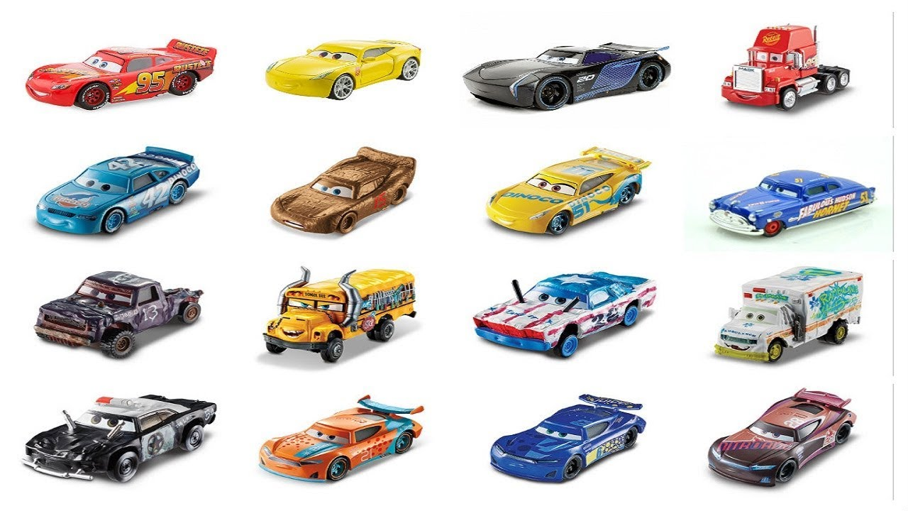Cars 3 Character Names Youtube