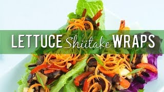 Shiitake Lettuce Wraps Recipe :: Vegan