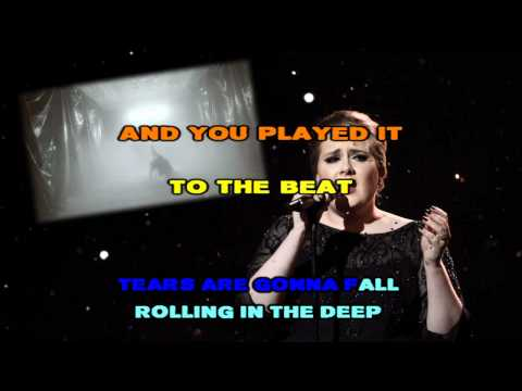 Adele - Rolling In The Deep (Instrumental / Karaoke) with backing vocals