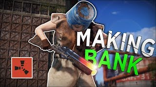 HOW LAUNCH SITE IS MAKING ME RICH! - Rust Solo Survival #2