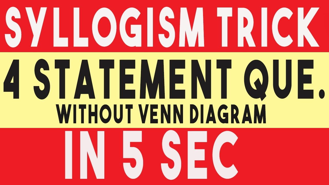 Syllogism tricks without venn diagram in hindi syllogism tricks syllogism tricks without venn diagram in hindi syllogism tricks using formula 100 accuracy ccuart Choice Image