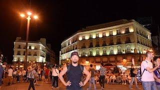 アキーラさん夜の散策①スペイン・マドリッド・プエルタ・デル・ソルの広場!Puerta-del-Sol,Madrid,Spain