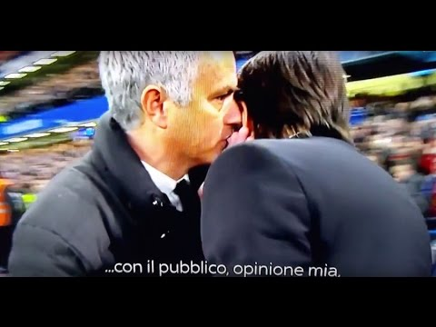 LITIGIO - QUARREL CONTE MOURINHO CHELSEA MANCHESTER UNITED 4 - 0 [ITALIAN SUBTITLE]