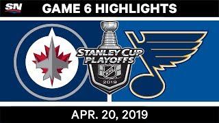 NHL Highlights | Jets vs. Blues, Game 6 – April 20, 2019