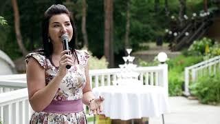 Свадебная ведущия и регистратор в поместье Сальково. Свадьба в шатре в Подмосковье.