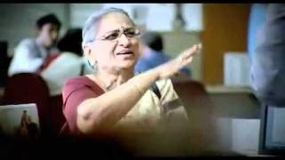 An elderly customer in ICICI Bank