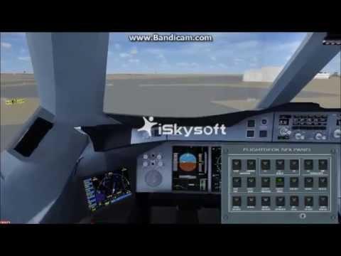 FSX emirates A380 FULL FLIGHT from Dubai to Beijing