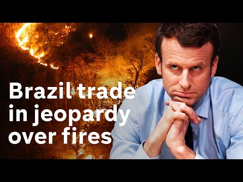 Amazon fires: France and Ireland threaten to block Brazil trade