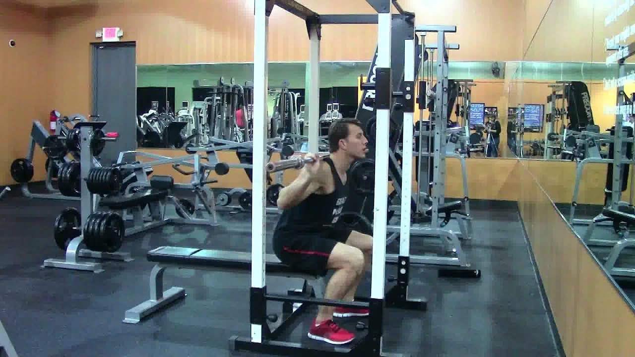 Barbell Box Squats - HASfit Squat Exercise Demonstration - Proper ...