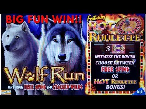 SO MANY PUPPIES!  BIG FUN WINS!  WOLF RUN SLOT MACHINE by IGT