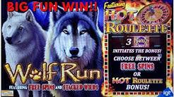 BIG BONUS WINS on NEW WOLF RUN SLOT MACHINE POKIE by IGT  PALA CASINO