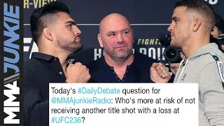 Daily Debate: Who has a longer road back to another title shot with a loss this weekend?