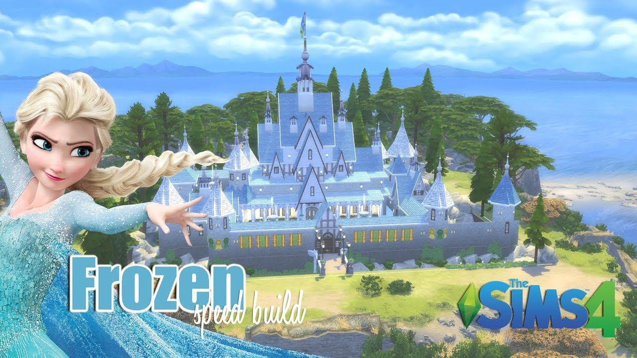Fonkelnieuw Disney Frozen Elsa Arendelle Kasteel bouwen - Sims 4 speed Build ZJ-08