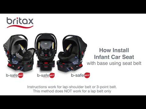 Britax B Safe Gen2 Infant Car Seats, Britax B Safe 35 Car Seat Installation Without Base