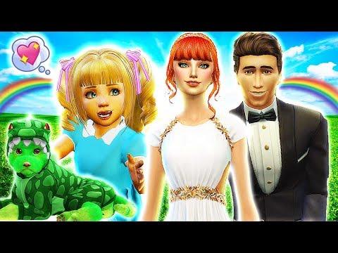 💗ALICE IN WONDERLAND & RAPUNZEL'S WEDDING👰💍 The Sims 4 Disney Villains Challenge #15
