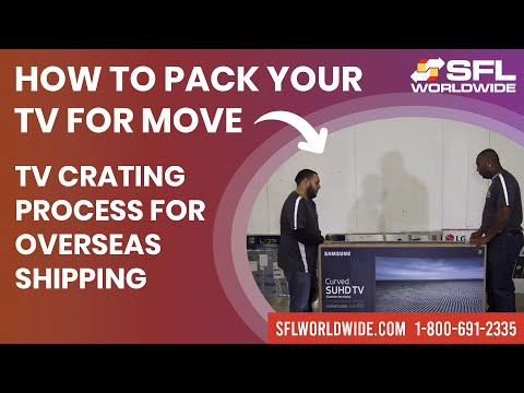 TV Crating for International Shipping