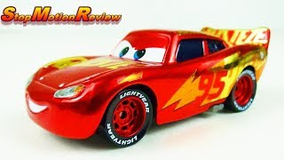 Cars 3 Stop Motion Review - Lightning McQueen Rust-eze Racing Center - Mattel Die-cast
