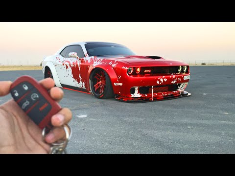 700+ BHP Dodge Challenger HELLCAT: Liberty Walk performance kit.