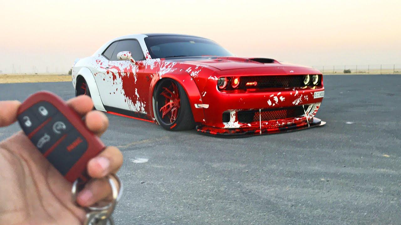 700 Bhp Dodge Challenger Hellcat Liberty Walk Performance Kit Youtube