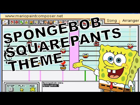 Spongebob Squarepants Theme Song - Mario Paint Composer 2.0