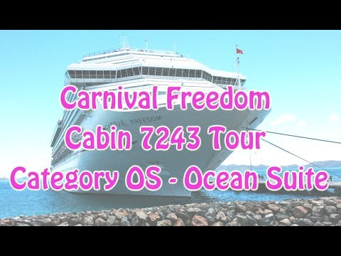 Carnival Freedom Cabin 7243 Ocean Suite Room Tour Youtube