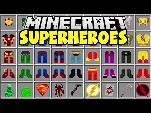SUPERHEROES MINECRAFT MOD   Iron Man, Hulk, Thor, Superman!!   Minecraft Mods