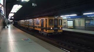 Buenos Aires地下鉄C線 名古屋市交通局1200形・300形 San Juan駅離合