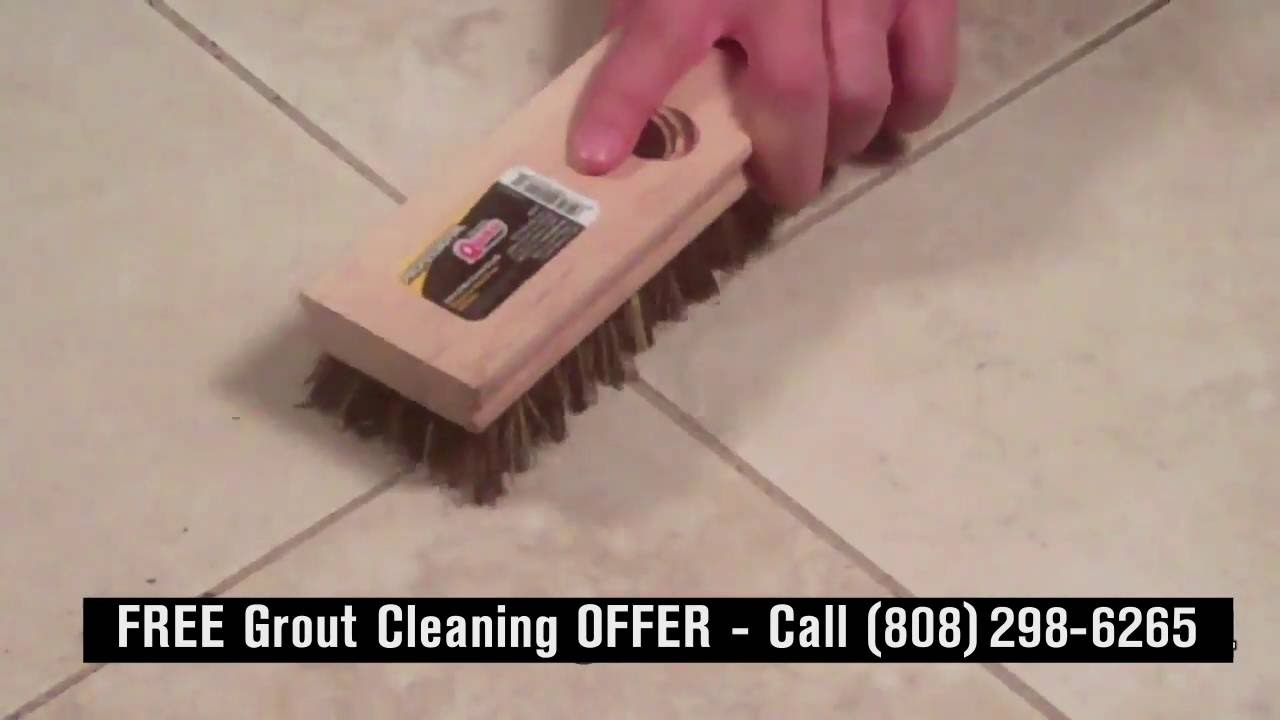 Maui Stinky Busters Tile Grout Cleaning And Restoration YouTube - Clean and reseal grout