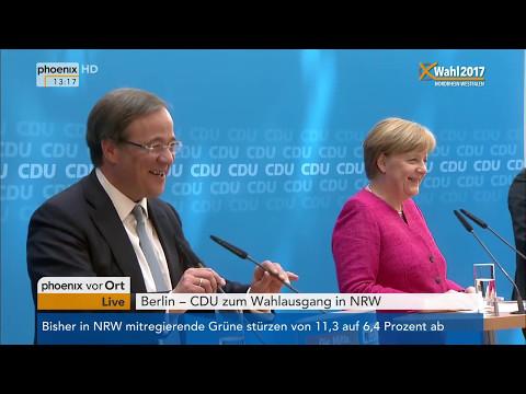 Landtagswahl Nordrhein-Westfalen: Pressekonferenz von Angela Merkel und Armin Laschet