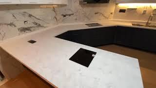 LG하이막스 오로라 비앙코 인조대리석 주방 싱크대 상판…