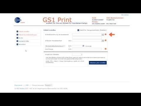 GS1 Print - Etiketten erstellen für Handelseinheiten