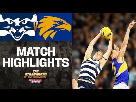 Geelong V West Coast Highlights | First Semi-Final, 2019 | AFL