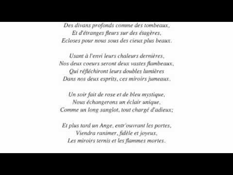 La mort des amants baudelaire barti youtube - Cuisiner trompette de la mort ...